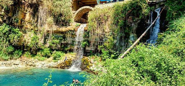 Afqa cave and waterfall
