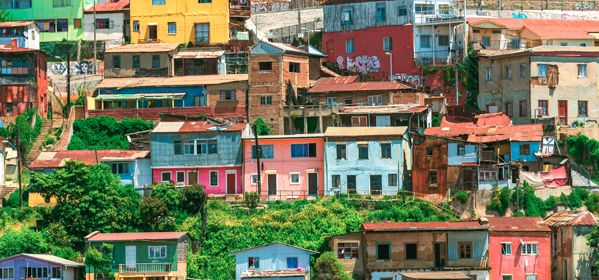 Colorful buildings and Houses