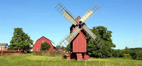 Historical Red Windmill