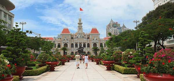 Ho Chi Minh City Hall at Dong Khoi Street