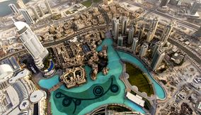 Observation deck of Burj Khalifa