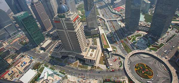 Shanghai Panoramic View From the Pearl Tower