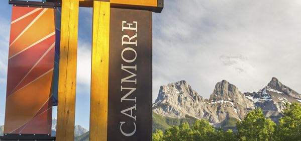 Welcome Sign Canmore