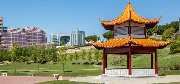 Things to do in Edmonton - Chinese park in the Saskatchewa