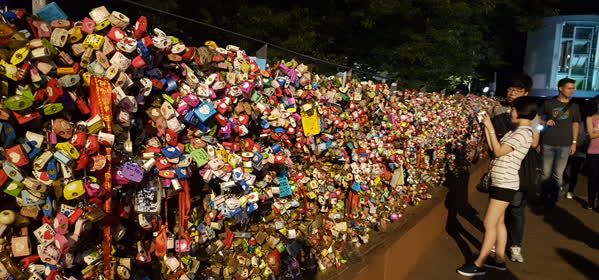 Things to do in Seoul - Lock your love at Soeul Tower