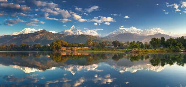 Things to do in Pokhara - Mountains views- panorama of the Annapurna I to IV Annapurna South