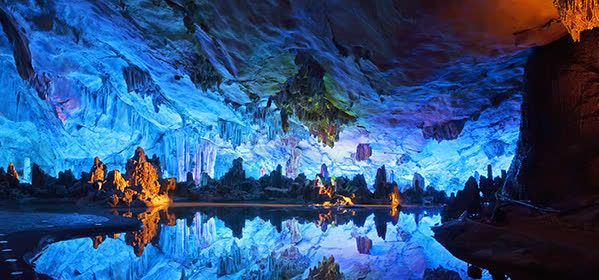 Things to do in Guilin - Reed Flute Caves - The Crystal Palace of the Dragon King Formations