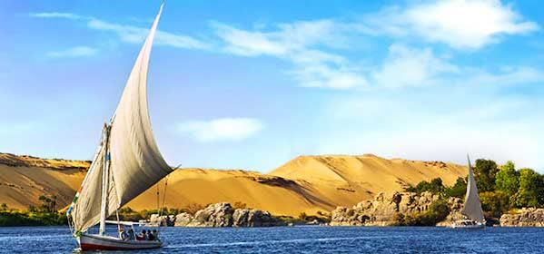 Things to do in Aswan - The Nile at Aswan