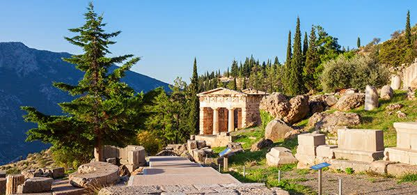 Things to do in Delphi - Treasury of the Athenians
