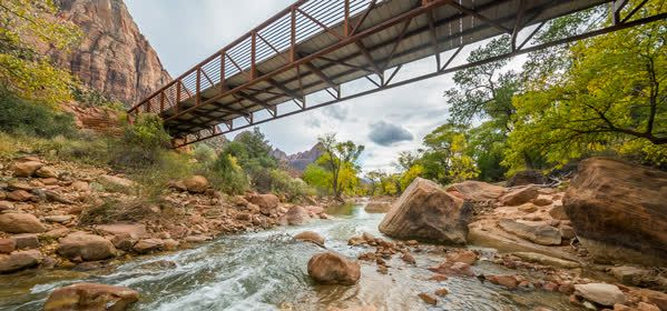 Things to do in Zion National Park - Virgin River Bridge