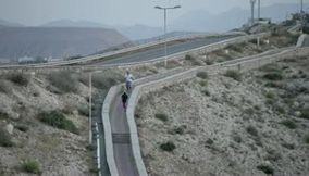 Oman Muscat beautiful mountains and nice calm peaceful walk