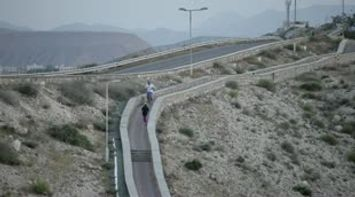 title: Oman Muscat beautiful mountains and nice calm peaceful walk