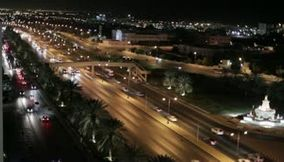 Oman Muscat city lights