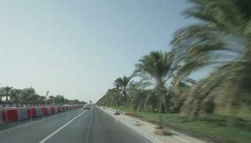 Oman Muscat nice bridge and lovely roads