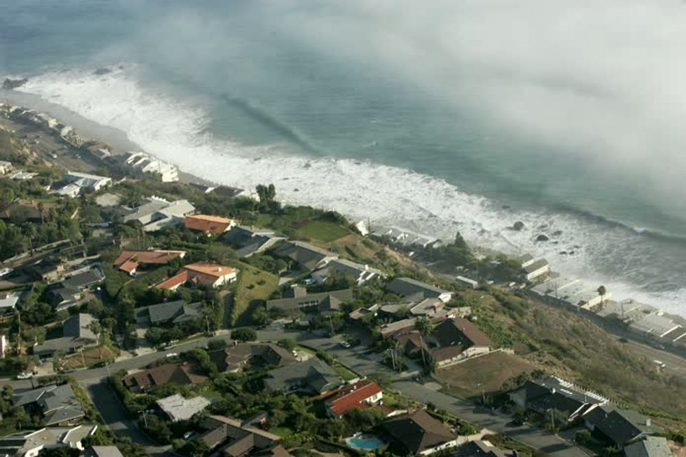 title: Aerial View of Malibu Beach