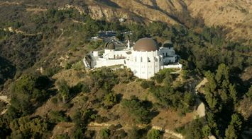 title: Aerial View of the Renowned Griffith Observatory in LA