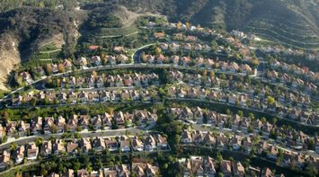 title: Amazing Shot of Organized Homes in LA