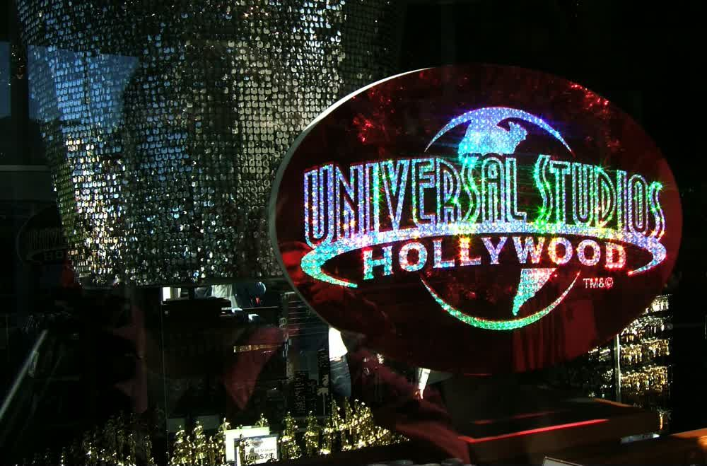title: Awards at Universal Studios at Night in Los Angeles