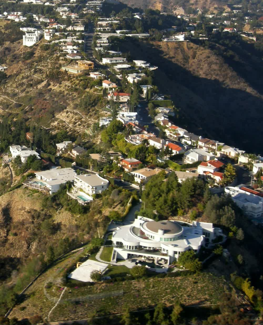 Beautiful Aerial View Scenery of LA