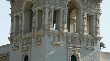 title: Beautiful Elaborate Ornate Tower at Balboa Park