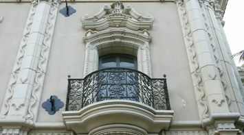 title: Beautiful Elegant Ornate Balcony at Balboa Park