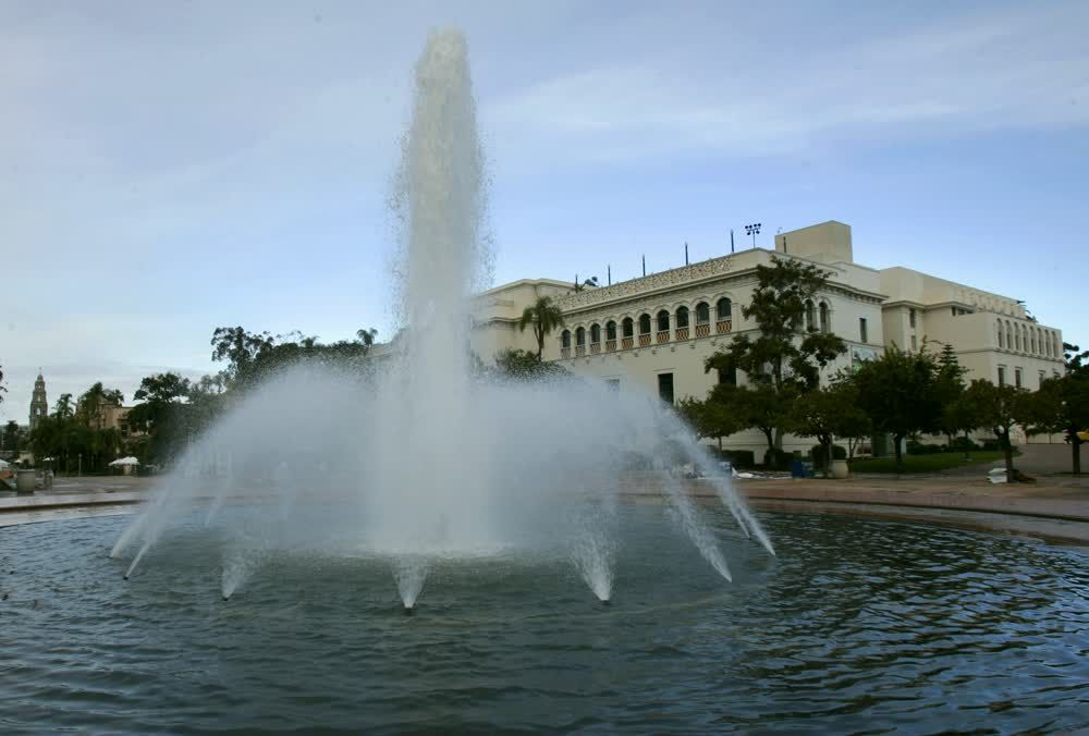title: Beautiful Fountain of Balboa Park in San Diego
