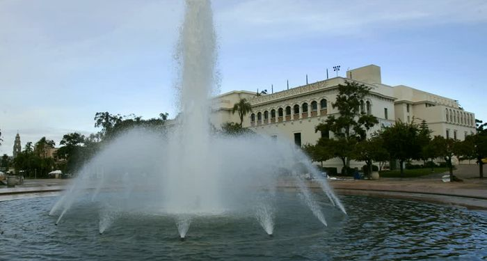 title: Balboa Park fountain