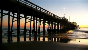 title: Sunset by the Newport Pier