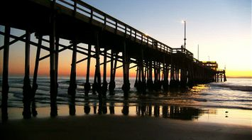 Sunset by the Newport Pier