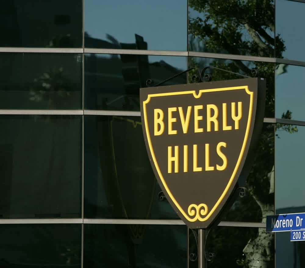 title: Beverly Hills Sign in Los Angeles