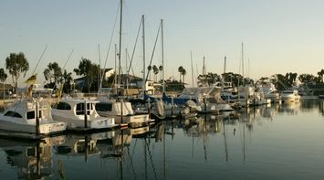 title: Boats Docked on the Orange County Port Harbor in California