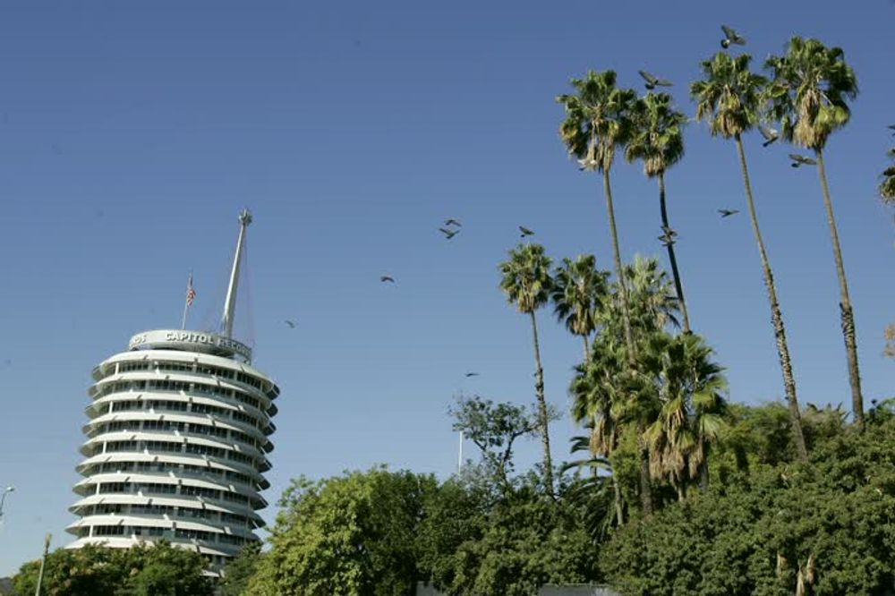 title: Capitol Records Tower in Hollywood Los Angeles