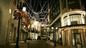 title: Christmas Decoration Lights at Night in Beverly Hills