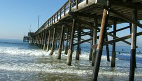Cool wooden Pier at Newport Beach