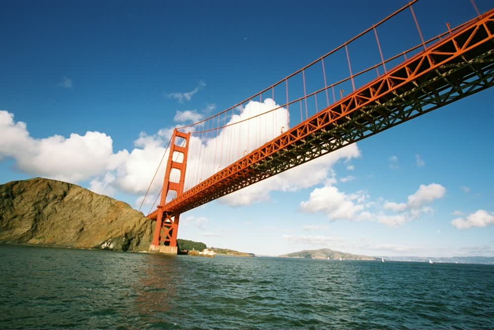 title: Cool Shot of the Huge Golden Gate Bridge Landmark of San Francisco