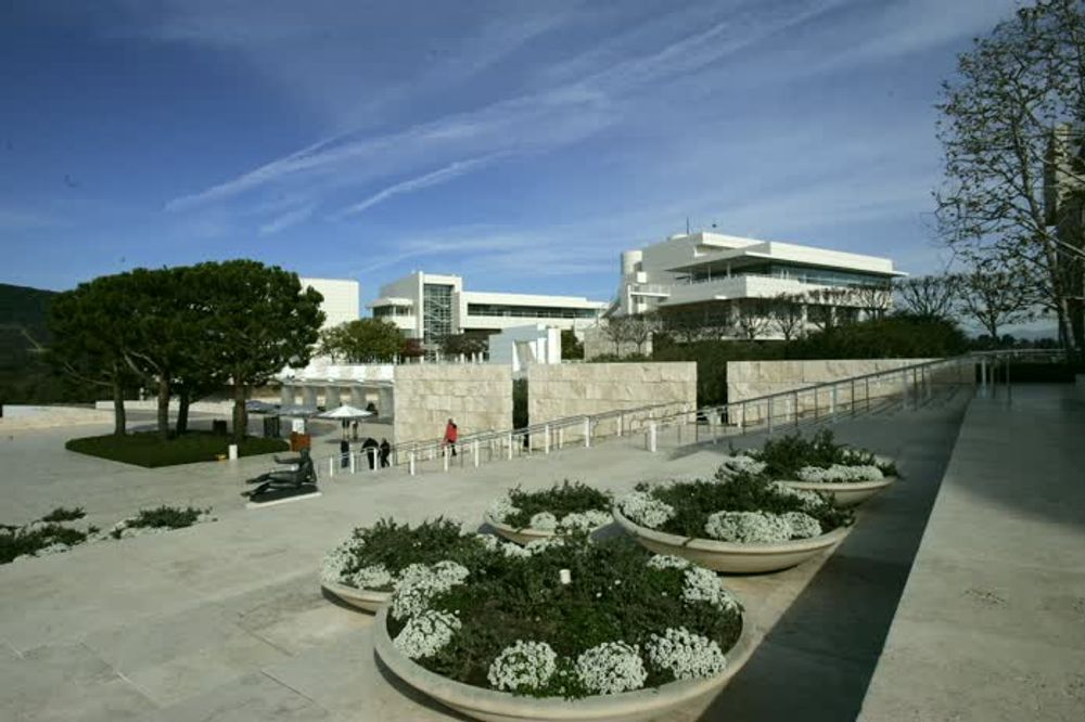 title: Courtyard of the Paul Getty Museum in LA