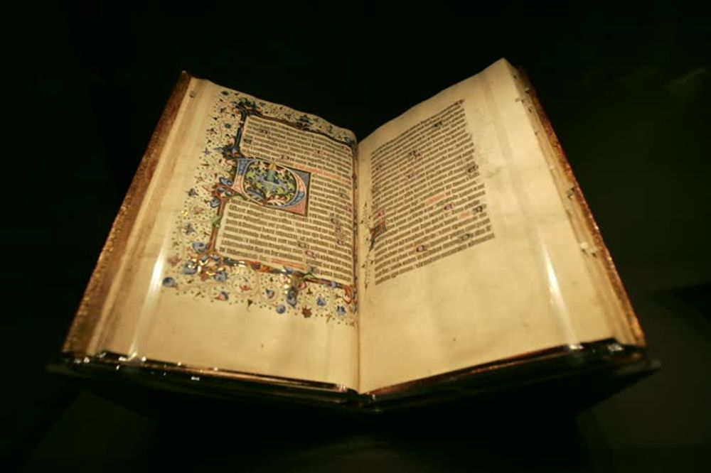 title: Elaborate Ornate History Book at Getty Museum in Los Angeles