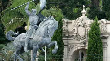 title: Equestrian Bronze Statue at Balboa Park in San Diego