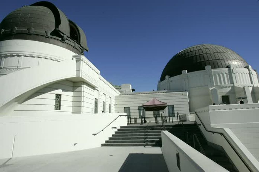 title: Griffith Observatory Black Domes in Los Angeles