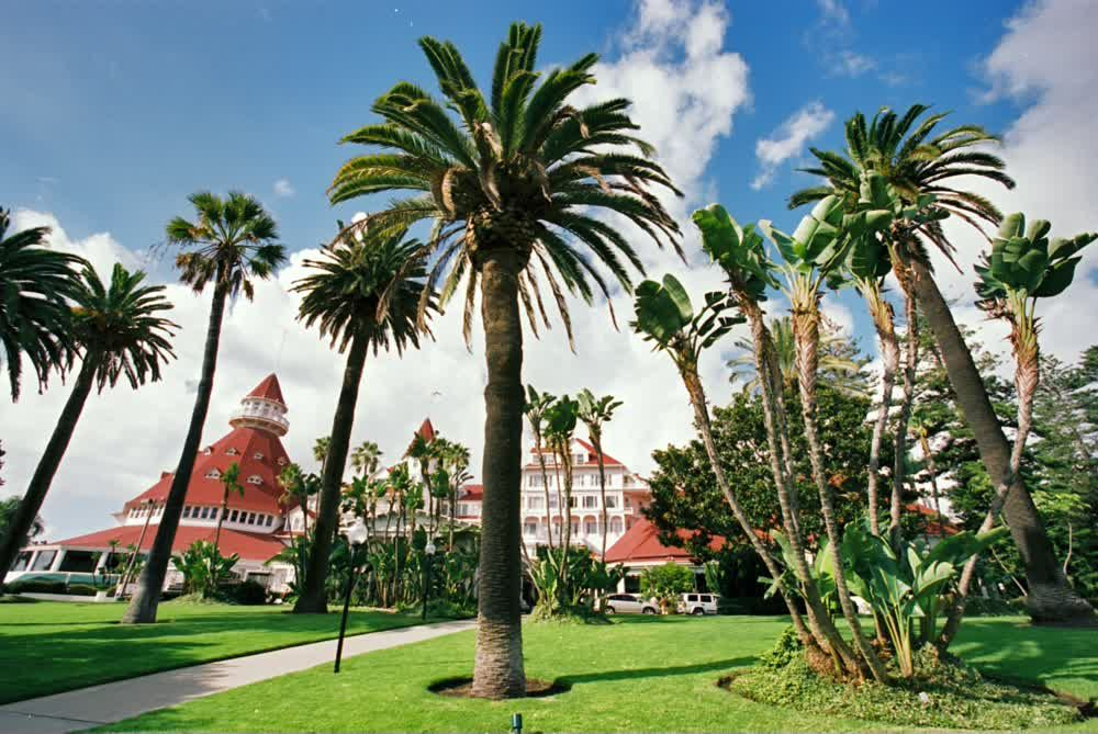 title: Hotel del Coronado at Orange Avenue in San Diego