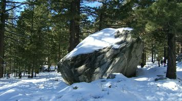 title: Huge Rock Covered in Snow in Palm Springs