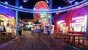 title: Santa Monica Luna Park at Night