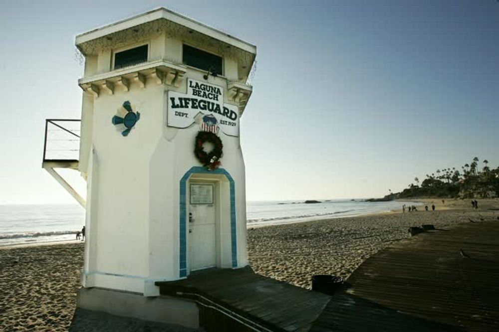 title: Laguna Beach Lifeguard Cabin on the Sand