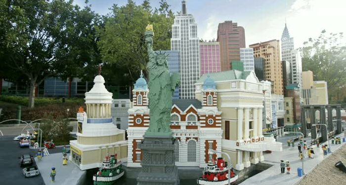 title: Legoland Assorted Landmarks with Statue of Liberty