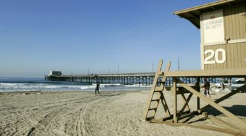 title: Lifeguard Tower Number 20 at Newport Beach
