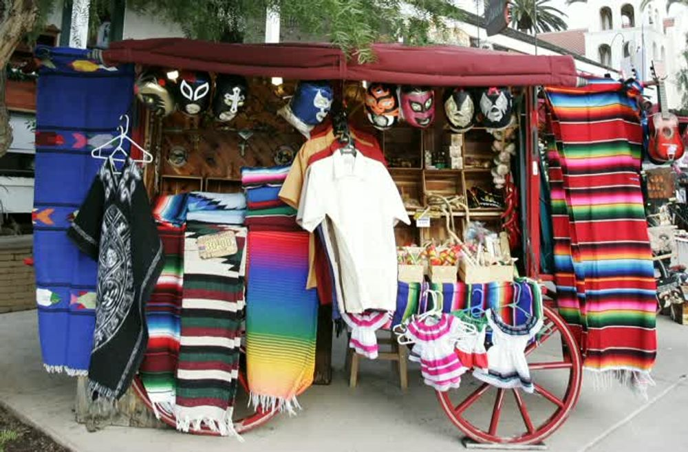 title: Lucha Libre Mexican Masks and Other Souvenirs for Sale