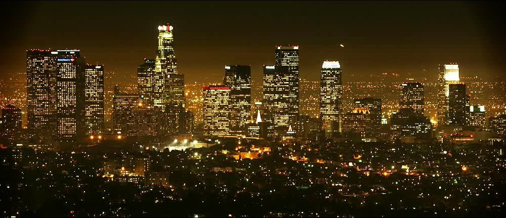 title: Magnificent Picturesque Night Scenery of LA
