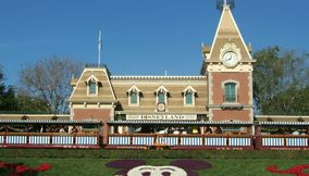 Main Street Station Building at Disneyland