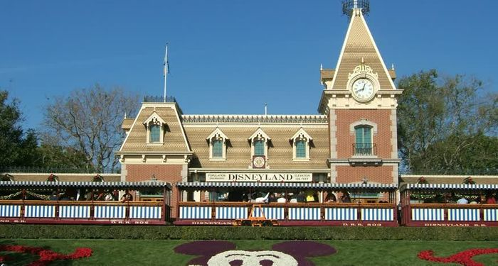 title: Main Street Station Building at Disneyland