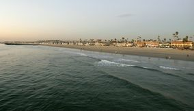 title: Newport Beach at Dusk